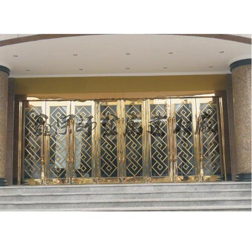 新款不锈钢ktv门板 不锈钢镜面板压欧式花