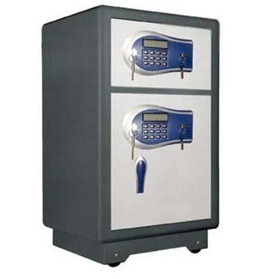 单门指纹密码保管箱全钢入墙加厚全钢带抽屉电子密码柜办公资料柜