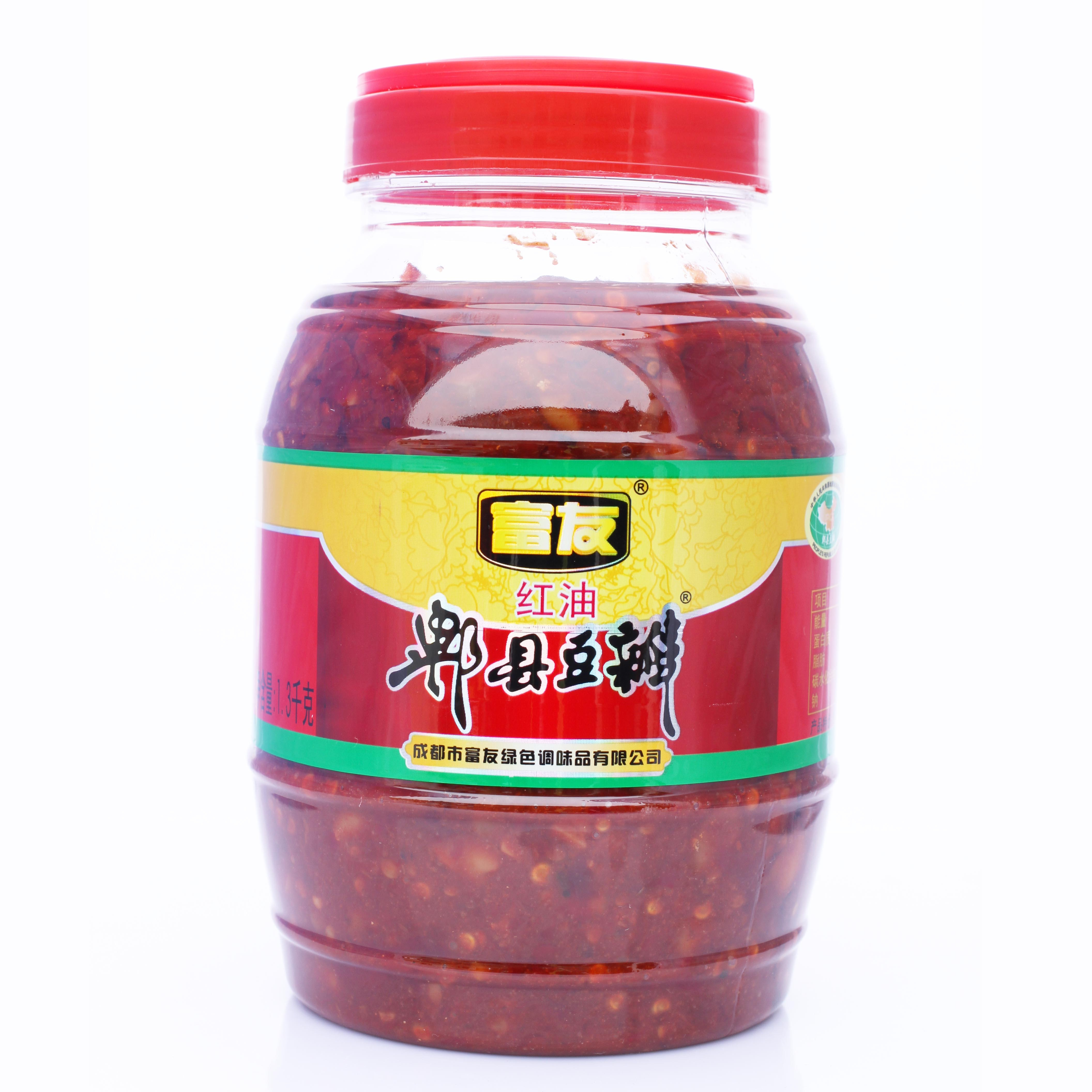 富友牌 地道郫县豆瓣酱 1300g装 红油豆瓣 四川特产 川菜调料