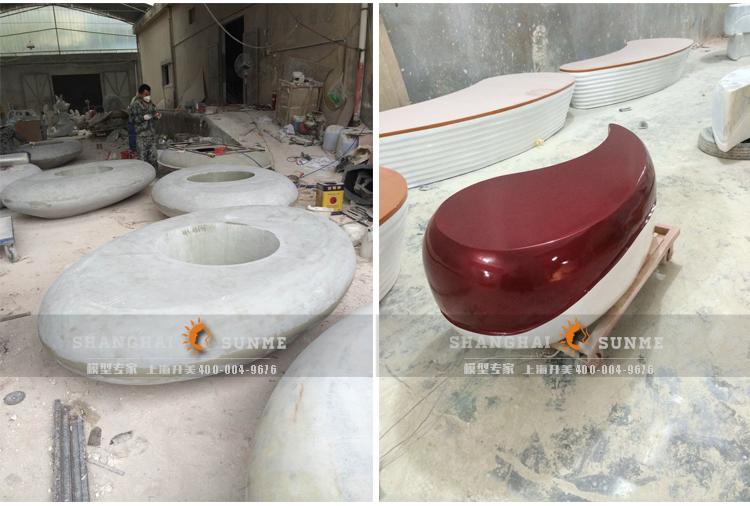 模型专家上海升美玻璃钢雕塑厂家商场座椅模型定制美