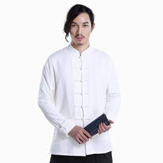 原创2017中国风春季休闲外套男长袖棉麻汉服中山装男式上衣唐装男