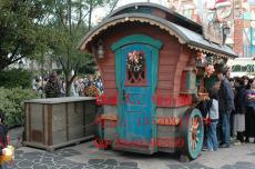 可移动式木制售货车 户外零售花车 实木售货亭