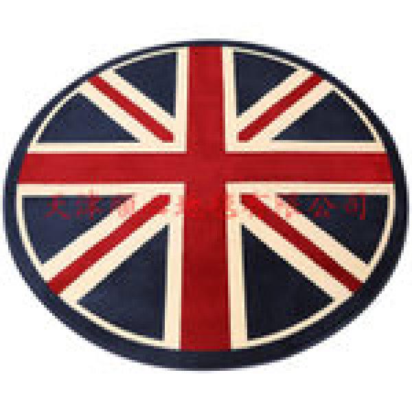 晴纶时尚潮流英伦米字旗圆形国旗地毯