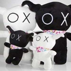 包邮刘德华儿子安逗黑仔Andox毛绒玩具情侣牛公仔礼物黑白牛娃娃
