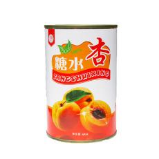 正品多国牌水果糖水杏罐头 杏罐头425克12罐整箱