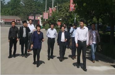 2015年5月12日国家农发总行领导一行莅临皖王集团检查指导工作