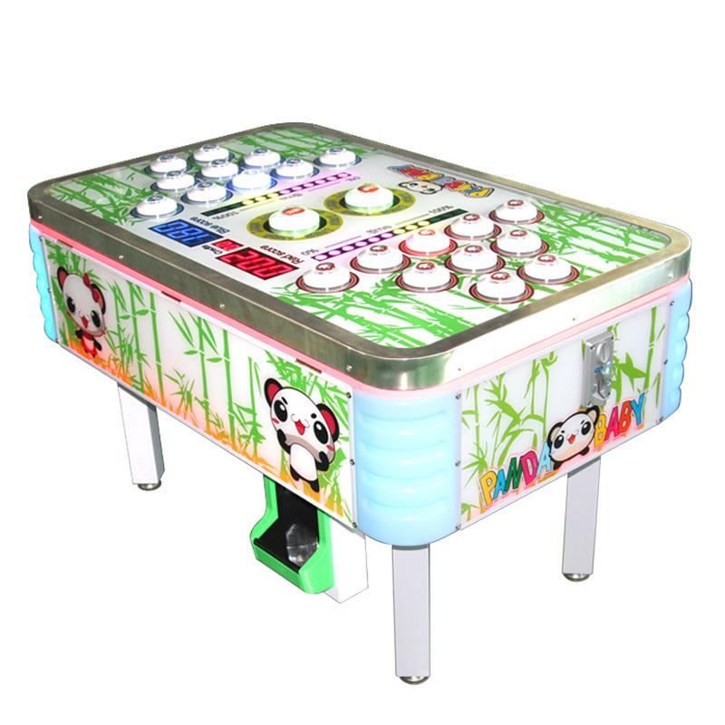 熊猫宝贝儿童乐园双人亲子对战投币游戏机打豆豆敲击机拍打机出彩票小型游戏机