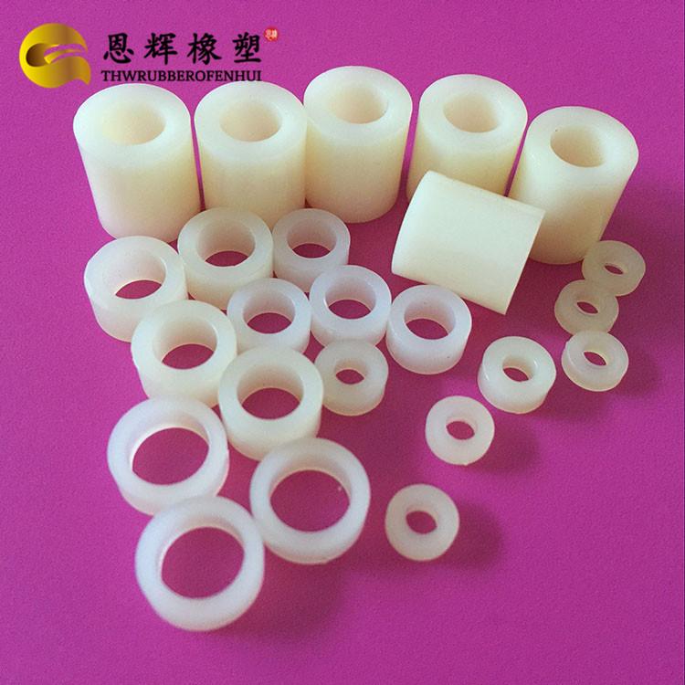 专业加工ABS玩具垫片 可塑性强ABS圆形柱 耐磨石墨尼龙垫片 尼龙绝缘垫圈