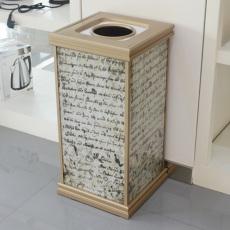 木纹折叠垃圾桶 防爆阻燃果壳箱 可打广告 画面接收定制