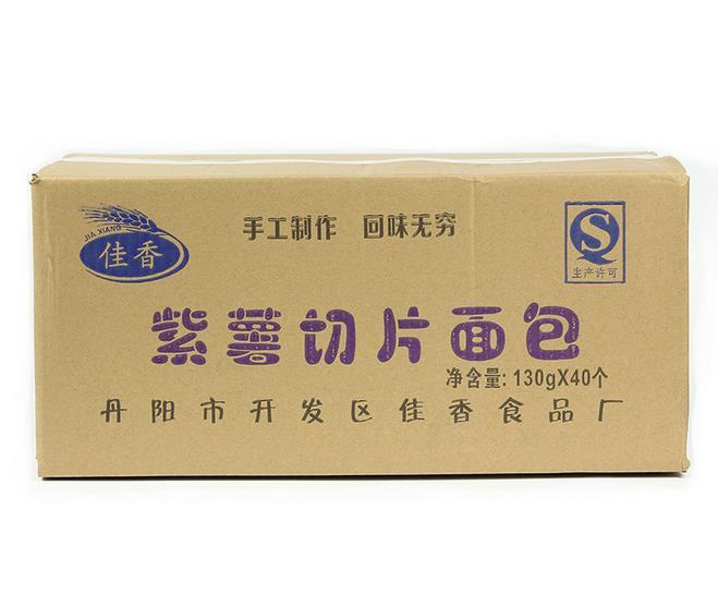 供应 厂家批发 怡香坊 营养紫薯面包 紫薯切片面包 点心