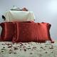 【大红色】依格尔 家居床品 双面提花真丝枕套 100%桑蚕丝 单只 信封款 48×74+5cm