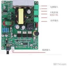 12V24V36V48V56V68V100W低音炮数字功放板