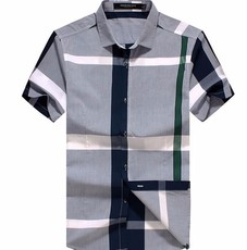 供应2016夏装 商务休闲韩版修身男士短袖衬衫