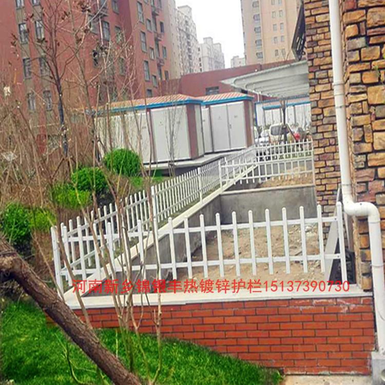 河南锌钢草坪栅栏 天津花坛护栏 篱笆栅栏新乡锦银丰护栏生产定制