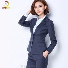 2016春季新款职业女装时尚韩版修身高端羊毛西服套装裤装厂家定制