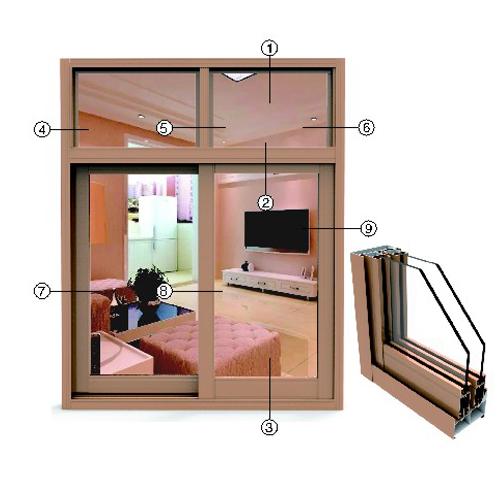 供应 永高铝材 YK108推拉窗系列型材  厂家直供 正品保障 YG4-8