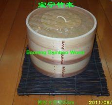 江西宝宁竹木柳杉木出口蒸笼27.5cm