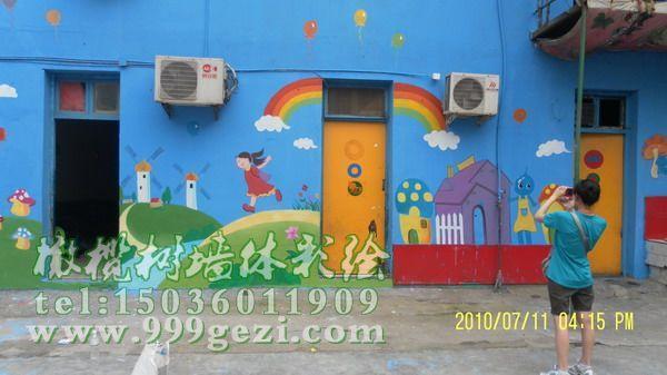 西安幼儿园手工绘画公司墙绘壁画手绘墙服务