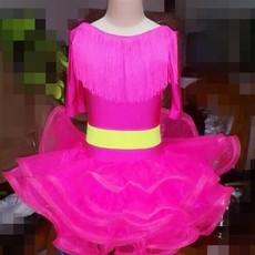 供应儿童舞蹈服 少儿拉丁舞裙 幼儿舞蹈裙 比赛服