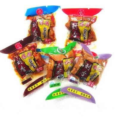 淮南特产八公山豆制品 刘香豆干素肉豆腐干散称500克