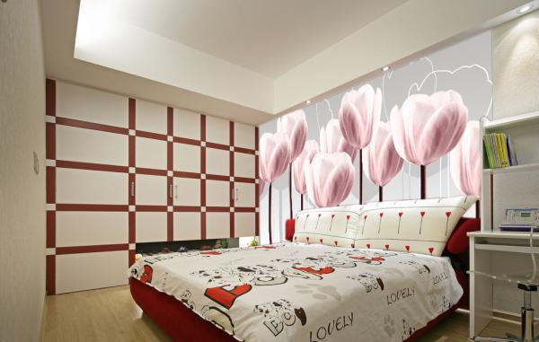 电视沙发卧室背景墙