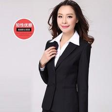 春夏女职业套装套裤面试两粒扣西装女正装修身职业套装定做