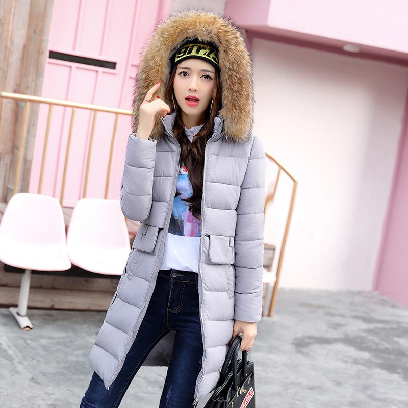 新款秋冬棉服女中长款2017冬季韩版胖MM大码宽松加厚女装棉衣外套