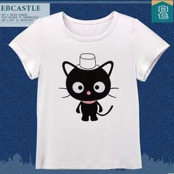 韩版童T恤 2016夏季韩版新款圆领纯棉可爱印花童T恤 打底衫