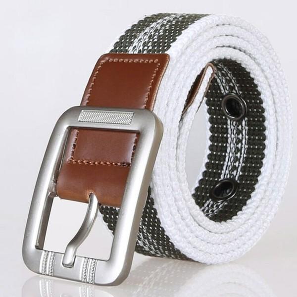 厂家直销男士裤带 布腰带 针扣帆布腰带图片