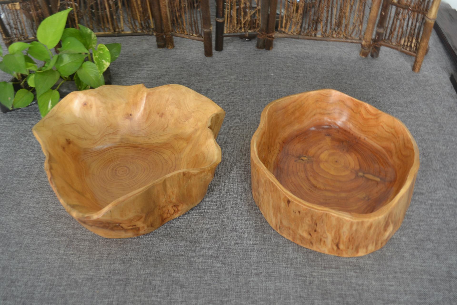 实木根雕多肉花盆批发 天然原杉木制果盆篮工艺品摆件创意礼品