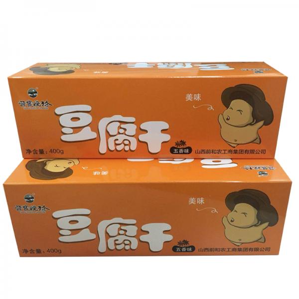晋宝绿珍 孜然味五香味豆腐干 豆干 400g