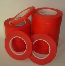 耐高温红色美纹纸胶带 昆山鑫昆胶带厂