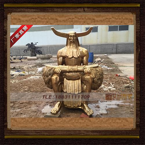 供应 炎帝铜雕像  品牌雕塑    厂家直销