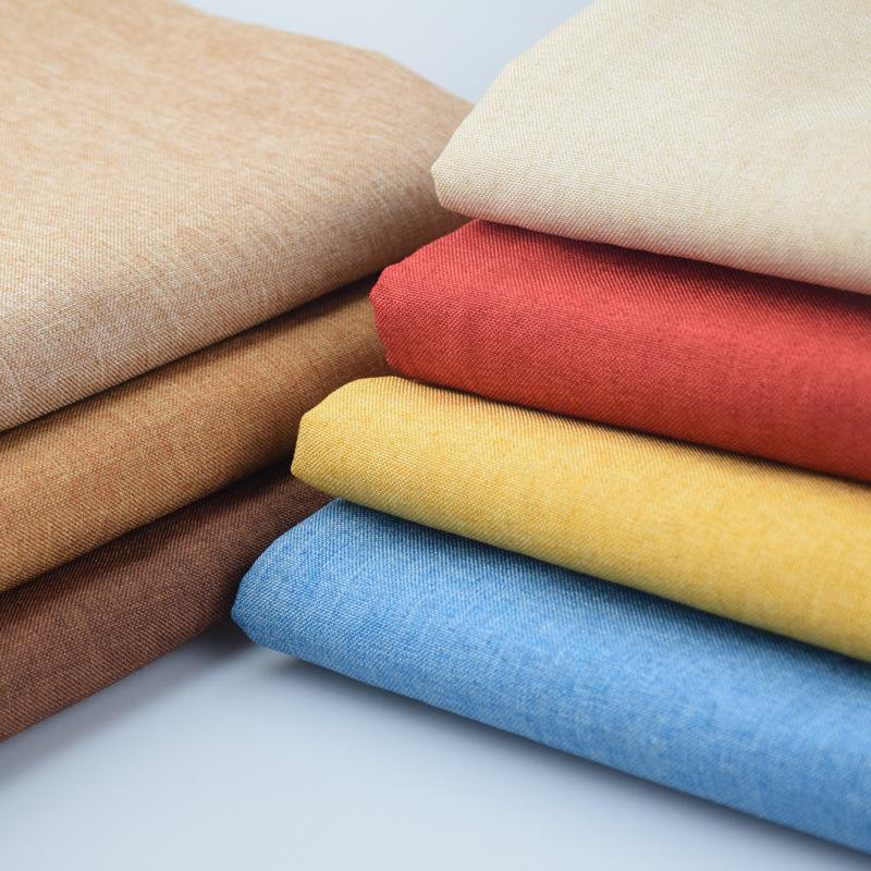 加厚純色仿亞棉麻沙發布料批發 細麻沙發套抱枕靠墊軟包布料面料圖片