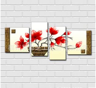 > 多拼无框复古花卉*室内装饰*客厅装饰画*无框画*艺术壁画 st015图片