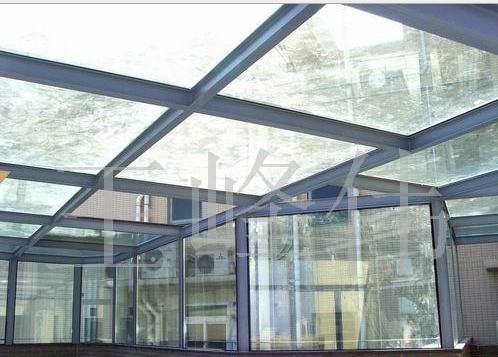 钢结构玻璃阳光房/雨蓬/雨棚/采光顶(图)