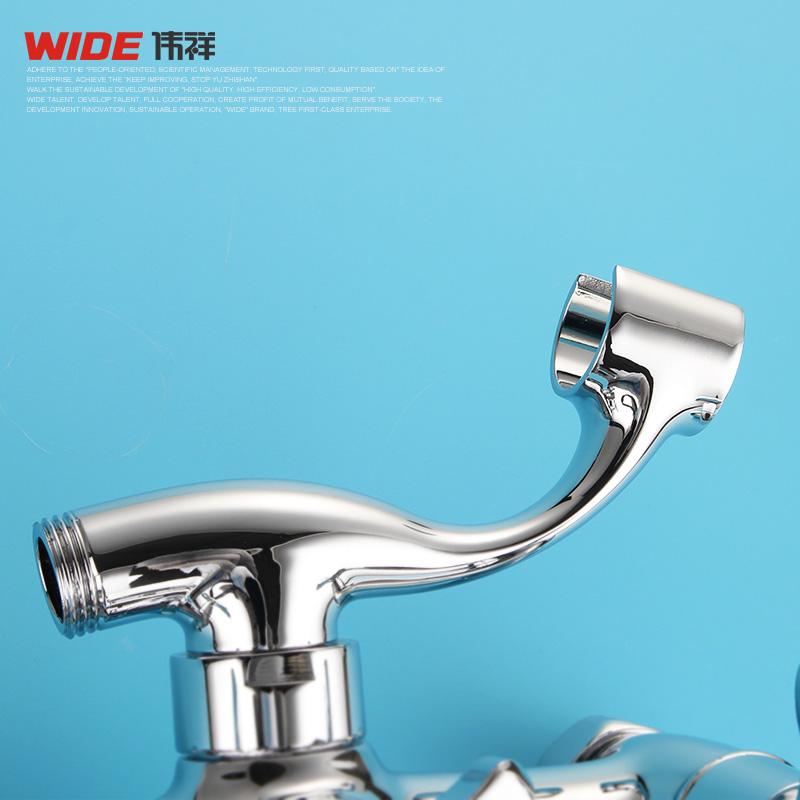 全铜淋浴龙头浴室暗装三联混水阀浴缸冷热沐浴龙头图片