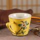 供应2017新款创意纯手工彩绘陶瓷咖啡杯新中式商务手工杯子陶瓷小茶杯