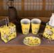 供应新中式手绘创意陶瓷杯子家居创意装饰创意情侣漱口杯酒店卫浴用品