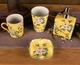 供应精致绘彩陶瓷螺纹皂碟创意家装饰品陶瓷工艺品浴室用品肥皂盒通用烟缸