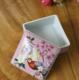 供应新中式纯手绘家居客厅摆件创意礼品正方形储物盒陶瓷浴盐盒牙签盒