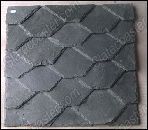 板岩异形规格瓦板,工程瓦板