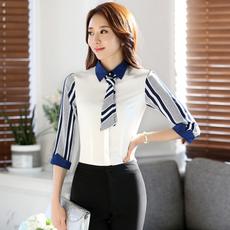 时尚工作服职业装衬衫女 春夏新款韩版修身白领工装女批发