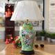 供应美式乡村复古陶瓷台灯客厅卧室床头创意中式手绘彩绘装饰台灯批发