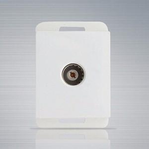 供应 118型暗装雅白一位电视功能键插座/音频