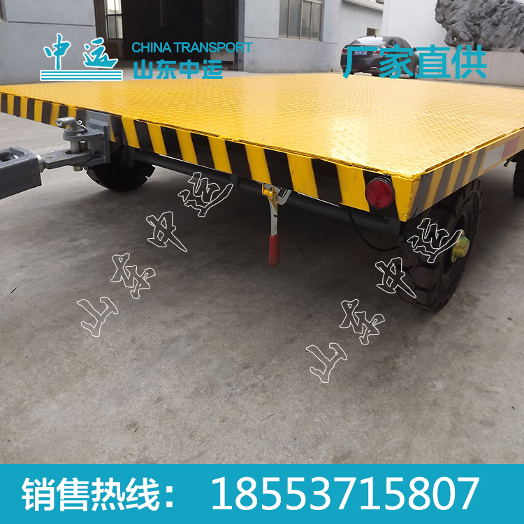 厂家直销3T带车尾灯平板拖车 中运平板拖车价格