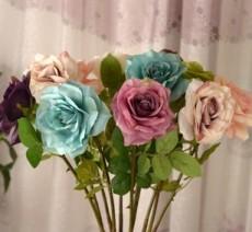 特卖专区欧式玫瑰花情人玫 情人花婚庆用品仿真花绢花干花假花装饰花