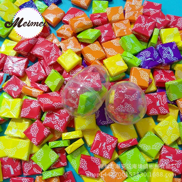 經典零食糖果街 年貨水果味瑞士糖sugar軟糖散糖批發每粒4.2g