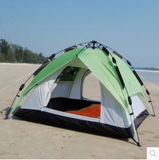 露营帐篷-棕榈滩2秒全新自动3-4人家庭帐篷双层防暴雨可三用