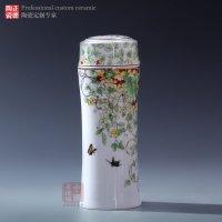 武汉定制 陶瓷保温杯 青花礼品保温杯